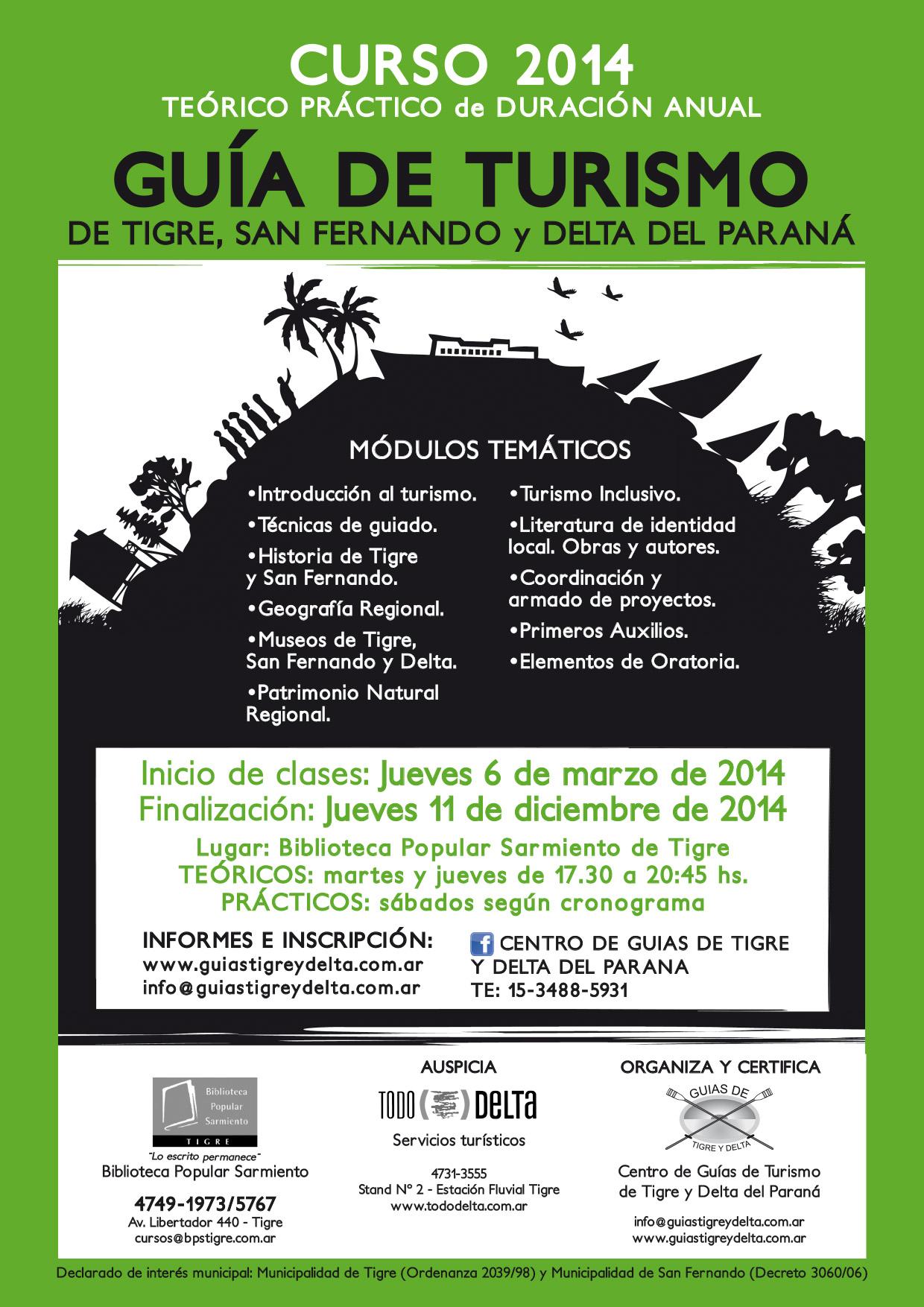 Afiche curso Cto. guías 2014 1